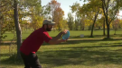 The 2021 Fall Classic disc golf tournament took place in Kilcona Park Sept. 26. (Source: CTV News/Zach Kitchen)