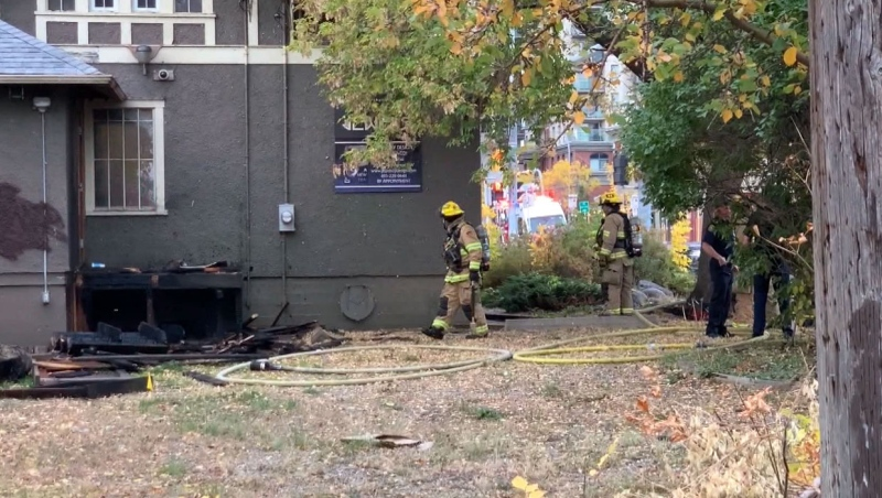 No one was injured in a fire early Sunday morning in southwest Calgary.