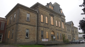 A historic jail is for sale in Owen Sound on September 26, 2021 (Kraig Krause/CTV News)