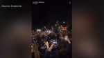 Video has surfaced on social media showing hundreds of students gathered on Huron St. without masks or physical distancing on Saturday September 26, 2021 (Source: Snapchat)
