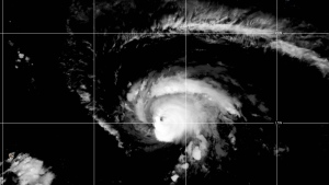 Hurricane Sam had maximum sustained winds of 130 mph (215 km/h), making it a Category 4 hurricane. (NOAA, Sept. 17, 2021 - 4:10 EDT)