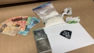 Provincial police uncovered a quantity of drugs and cash during a traffic stop in Norfolk County. (OPP Twitter)
