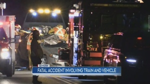 Fatal accident between a car and freight train