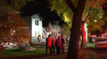 The blaze at a house under construction near 94 Street and 114 Avenue was reported shortly before 4:30 a.m. on Sept. 27, 2021.