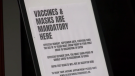 Alberta, vaccine, sign, face mask,