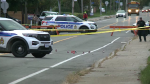 A section of Albion Road South was closed Monday morning for a shooting investigation. (Jim O'Grady/CTV News Ottawa)