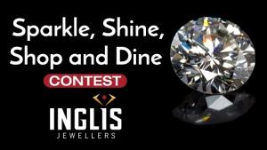 Sparkle, Shine, Shop, and Dine Contest Header