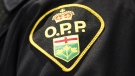 An Ontario Provincial Police logo is shown during a press conference in Barrie, Ont., on April 3, 2019. THE CANADIAN PRESS/Nathan Denette
