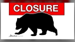 Bear-related parks closure graphic. (Alberta Parks)