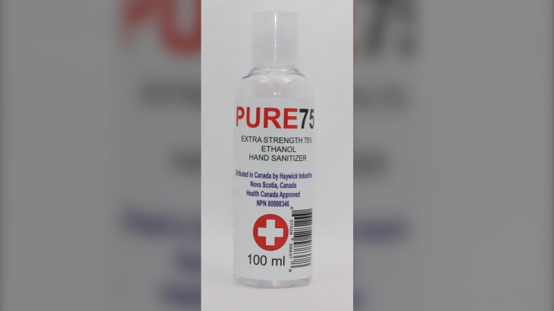 Health Canada has suspended the product licence for PURE75 gel hand sanitizer due to health risks. (Health Canada)
