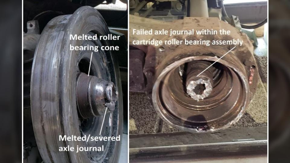 Damage to LRT wheels Aug. 8