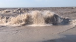High winds create heavy wave action on Lake Erie in Port Bruce, Ont. on Monday, Sept. 27, 2021. (Sean Irvine / CTV News)