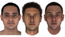 Thanks to DNA analysis, researchers have been able to generate 3D facial reconstructions of three Ancient Egyptian mummies -- named JK2911, JK2134 and JK2888 from left to right. (Parabon NanoLabs)