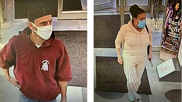 Chatham-Kent Police are asking for the public's help identifying a man and woman for a theft investigation. (Courtesy Chatham-Kent police)