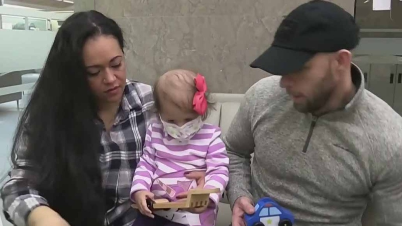 Young girl celebrates one-year cancer-free