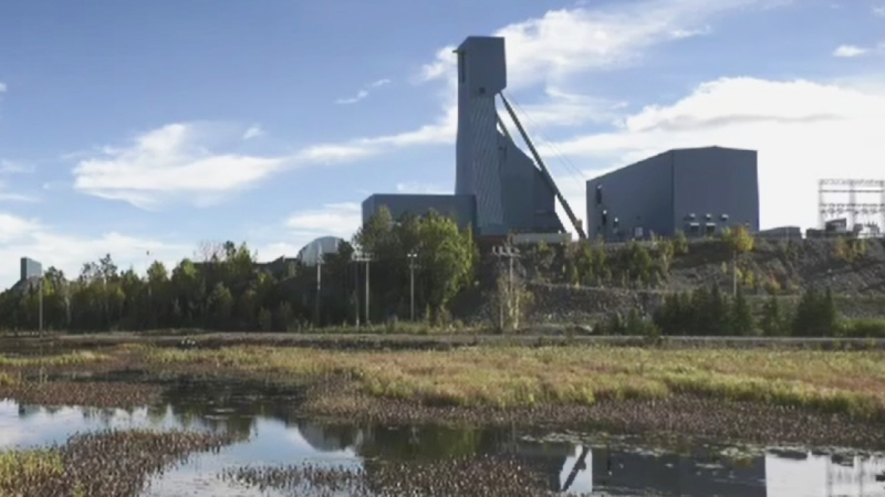 A rescue operation is underway Monday for 39 people stuck underground at Vale's Totten Mine in Sudbury, Ont. (Photo from video)