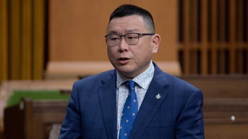 Conservative MP Kenny Chiu rises during Question Period in the House of Commons Tuesday April 13, 2021 in Ottawa. THE CANADIAN PRESS/Adrian Wyld