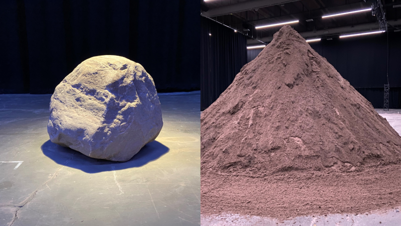 Montreal artist Victor PIlon will move 300 tons of sand in a performance piece inspired by the Greek myth of Sisyphus, who rolled a rock up a hill after angering the King of the Gods: Zeus.
