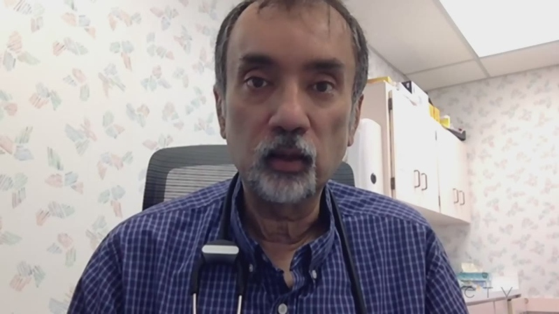Stayner, Ont., physician and past president of the Ontario Medical Association, Dr. Sohail Gandhi. (CTV News Barrie)