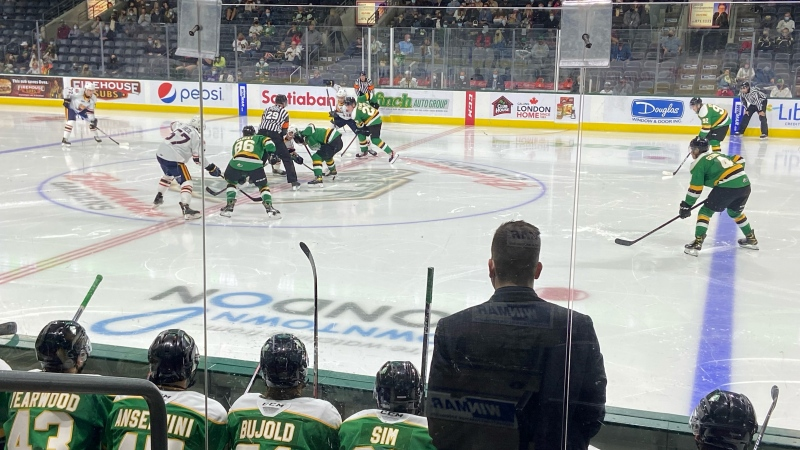 A London Knights hockey game is played in London, Ont. on Friday, Oct. 1, 2021. (Steve Young / CTV News)