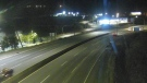 A section of Highway 1 in Kamloops is seen here in a DriveBC webcam image. (DriveBC)