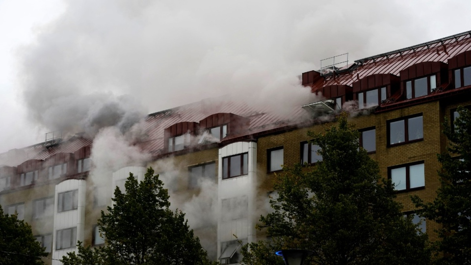 Apartment after an explosion in Annedal, Sweden