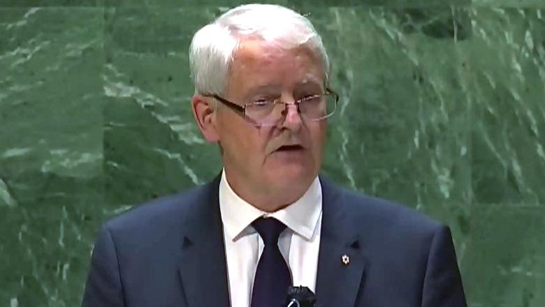 Garneau speaks at the UNGA