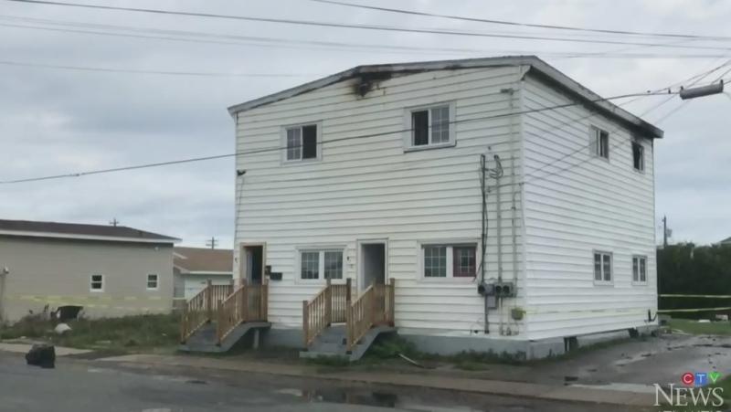 Fire crews on the scene in Cape Breton, N.S.
