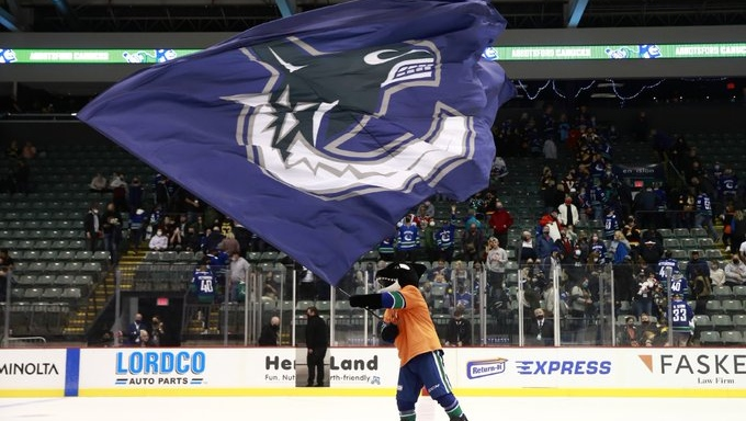 Vancouver Canucks played their first preseason home game in Abbotsford on Sept. 27, 2021.  (Vancouver Canucks/Twitter)