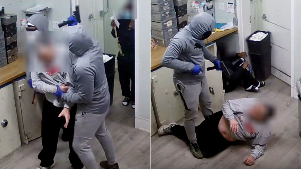 Video of violent 'million-dollar heist' in Toronto released as police announce arrests