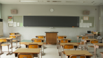 An empty classroom is shown. (Getty Images)