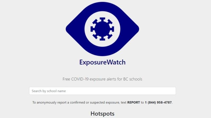 A B.C. parent has created a COVID-19 exposure notice website for schools. (ExposureWatch)