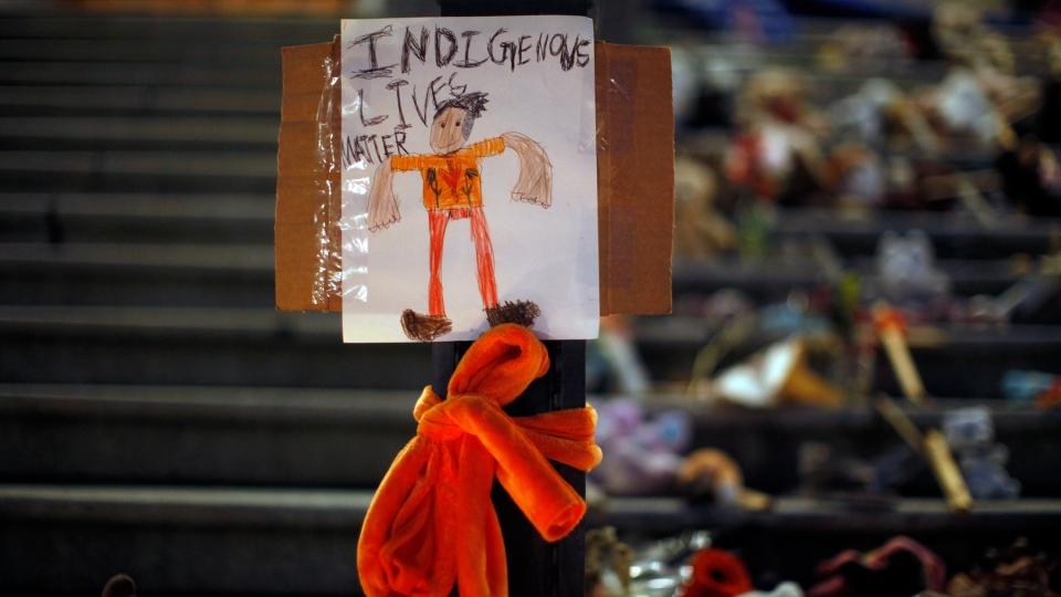 Indigenous Lives Matter sign
