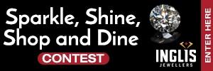 Sparkle, Shine, Shop and Dine Contest Button 2