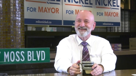 Edmonton mayoral candidate Mike Nickel has served three terms on council and is making his third run at the mayor's chair (CTV News)