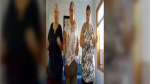 From left to right: Sisters Wendy Dreger, Lois Kreutzer, and Donna Emes, are scene dancing on TikTok. The video has garnered more than five million views. (Source: TikTok/oldlady152)