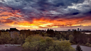 Sunrise from the balcony overlooking the West end of Ottawa & the Ottawa River. (Peter Ferguson/CTV Viewer)