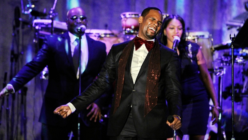 In this Feb. 12, 2011, file photo R. Kelly performs at the pre-Grammy gala & salute to industry icons with Clive Davis honouring David Geffen in Beverly Hills, Calif. (AP Photo/Mark J. Terrill, File)