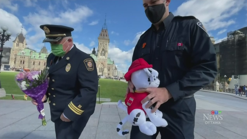 Firefighters mark day for indigenous people