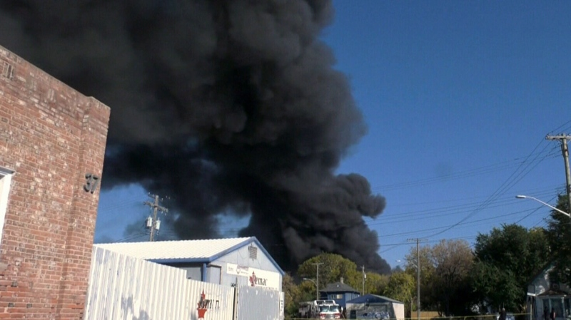 Firefighter taken to hospital after warehouse fire