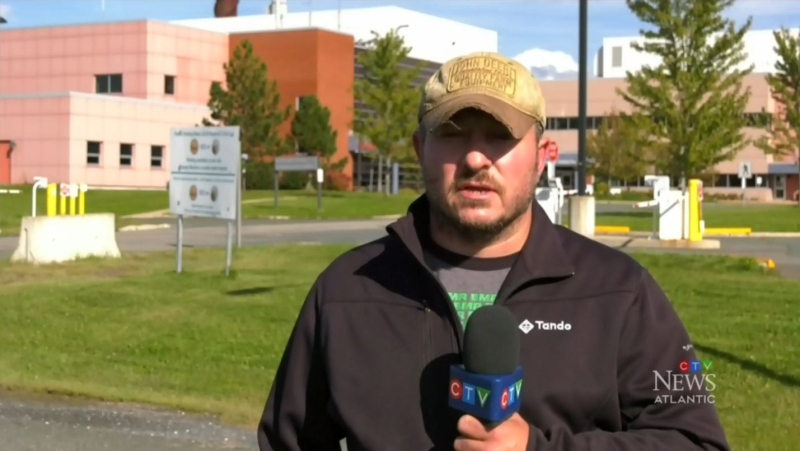 """""""This feels like I'm living in a nightmare and sometimes I like to pretend that it's not real, but it's real,"""" says Joe Gee, whose uncle was rushed by ambulance to the Upper River Valley Hospital in Waterville, N.B., after contracting COVID-19."""