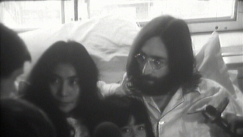 John Lennon and Yoko Ono are seen in this file image.