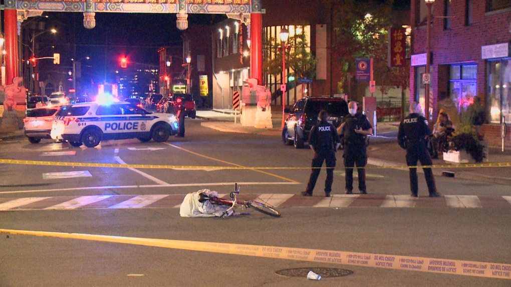 Collision with cyclist at Somerset and Bronson