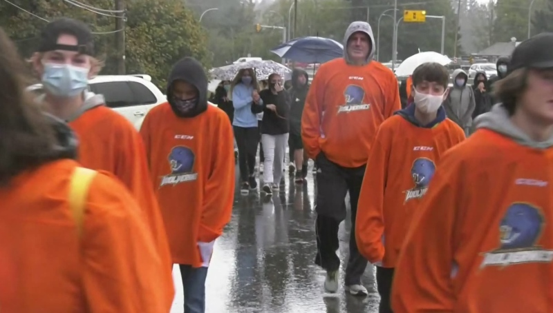 Hundreds of students in Sooke marked the National