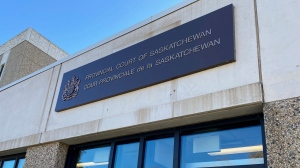 Provincial Court of Saskatchewan in Melfort where the case of a 13-year-old boy charged with first degree murder was spoken to Sept. 30. (Lisa Risom/CTV News)