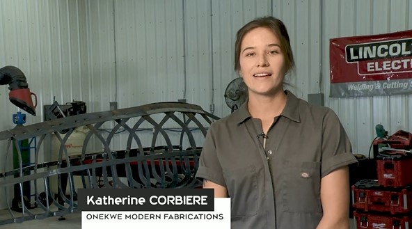Katherine Corbiere, owner of One Kwe Modern Fabrications, discusses the impact Community Futures Northeastern Ontario made on her business. (CTV Northern Ontario)