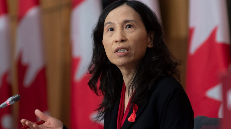 FILE - Chief Public Health Officer Theresa Tam responds to a question during a news conference Tuesday December 1, 2020 in Ottawa. THE CANADIAN PRESS/Adrian Wyld