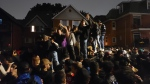 Ottawa police say an investigation is underway after 2,000 people attended a street party in Sandy Hill following Saturday's Panda Game. (Aaron Reid/CTV News Ottawa)