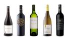 Quails' Gate Estate Winery Stewart Family Reserve Pinot Noir 2017, Boneshaker Old Vine Zinfandel 2017, Joel Gott Wines Sauvignon Blanc 2019, Southbrook Vineyards Triomphe Chardonnay 2017,  Trapiche Gran Medalla Cabernet Sauvignon 2016