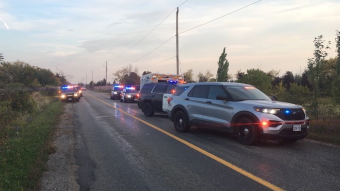 Caledon OPP respond to a shooting at a residence near Bramalea Rd & King St. where one person was treated for non-life-threatening injuries on Saturday, October 2, 2021. (Courtesy: OPP)